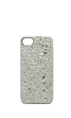 Marc by Marc Jacobs Foil Covered PC Phone Case in Silver