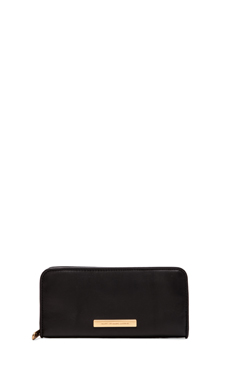 Marc by Marc Jacobs Luna Slim Zip Around Wallet in Black