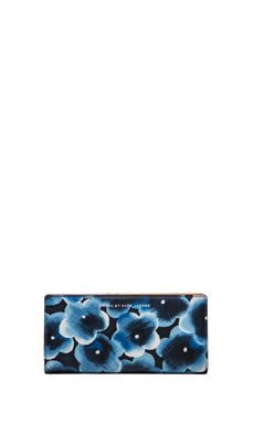 Marc by Marc Jacobs Sophisticato Aki Floral Tomoko Wallet in Skipper Blue Multi