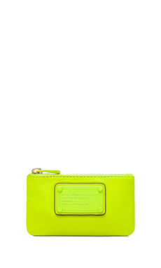 Marc by Marc Jacobs Electro Q Key Pouch in Safety Yellow