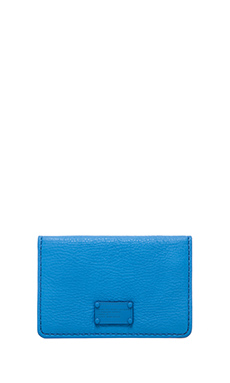 Marc by Marc Jacobs Electro Q Business Card Case in Electric Blue Lemonade