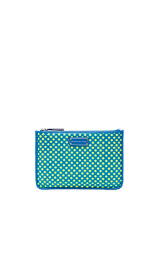 Marc by Marc Jacobs Techno Mesh Mini Tablet Zip Case in Electric Blue Multi