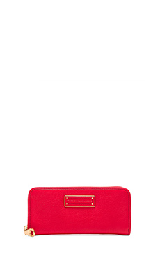 Marc by Marc Jacobs Too Hot to Handle Slim Zip Around Wallet in Cambridge Red