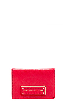 Marc by Marc Jacobs Too Hot to Handle Fold CC Holder in Cambridge Red