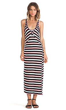 Marc by Marc Jacobs Miriam Mesh Stripe Maxi Dress in Black Multi