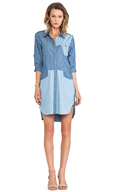 Marc by Marc Jacobs Catalina Chambray Solid Shirt Dress in Stormy Sky Blue Multi