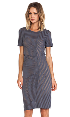 Marc by Marc Jacobs Jamie Stripe Jersey Dress in Pale Limo Black