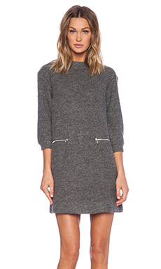 Marc by Marc Jacobs Liya Long Sleeve Dress in Charcoal Melange