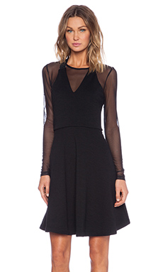 Marc by Marc Jacobs Jayden Mesh Mini Dress in Black