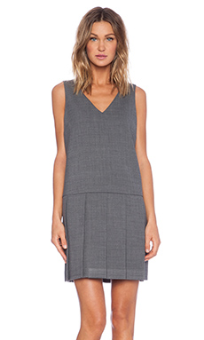 Marc by Marc Jacobs Sixties Pleated Dress in Shadow Grey Melange