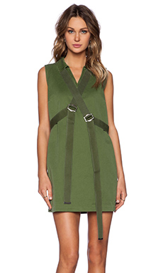 Marc by Marc Jacobs Classic Cotton Shift Dress in New Fatigue Green