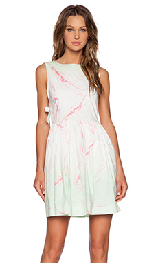 Marc by Marc Jacobs Milk Marble Dress in Light Mint Multi