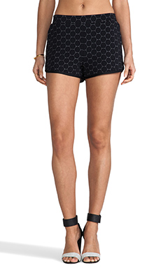 Marc by Marc Jacobs Leyna Dotty Ponte Short in Black Multi