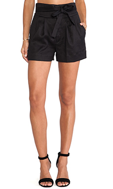 Marc by Marc Jacobs Cotton Linen Twill Shorts in Black