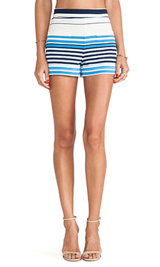 Marc by Marc Jacobs Paradise Stripe Jersey Shorts in Antique White Multi
