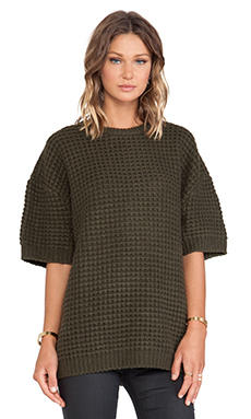 Marc by Marc Jacobs Walley Short Sleeve Sweater in New Olive Green