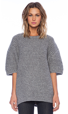 Marc by Marc Jacobs Walley Short Sleeve Sweater in Grey Melange
