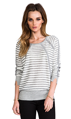 Marc by Marc Jacobs Jed Stripe Sweater in Salt and Pepper