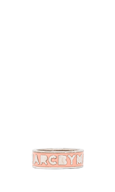 Marc by Marc Jacobs Dreamy Logo Ring in Rogue (Argento)