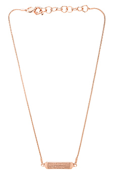 Marc by Marc Jacobs Short Necklace in Rose Gold