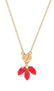 Marc by Marc Jacobs Read My Palmz Marquis Palm Pendant in Infrared & Oro