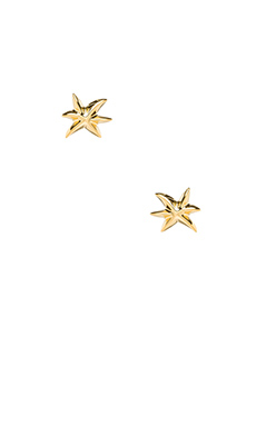 Marc by Marc Jacobs Read My Palms Metal Palm Studs in Oro