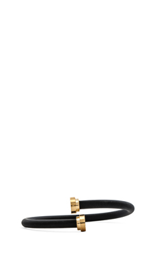 Marc by Marc Jacobs Rubber Bracelet in Black