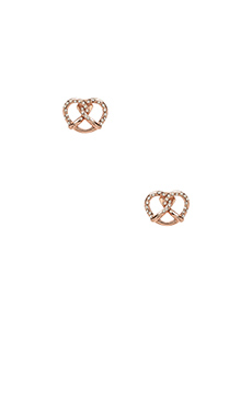 Marc by Marc Jacobs Lost & Found Salty Pretzel Studs in Rose Gold