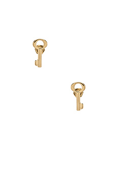 Marc by Marc Jacobs Lost & Found Key Studs in Oro