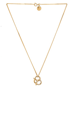 Marc by Marc Jacobs Lost & Found Salty Pretzel Necklace in Oro