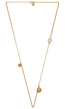 Marc by Marc Jacobs New Classic Marc Toc Collected Charms Necklace in Creme