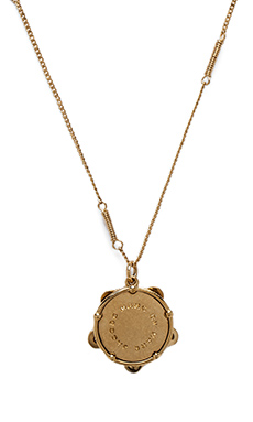 Marc by Marc Jacobs Music Fiend Vintage Locket Pendant in Oro