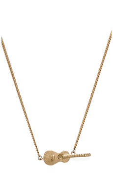Marc by Marc Jacobs Music Fiend Guitar Solo Necklace in Antique Gold