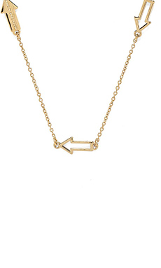 Marc by Marc Jacobs Hearts, Stars, Arrows Follow Me Necklace in Oro