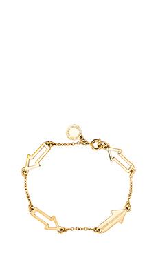 Marc by Marc Jacobs Hearts, Stars, Arrows Follow Me Bracelet in Oro