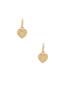 Marc by Marc Jacobs All Stars Puffy Heart Earrings in Oro