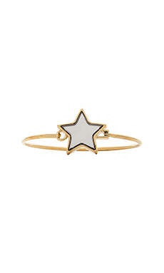 Marc by Marc Jacobs All Stars Star Hinge Bangle in Silver Mirro
