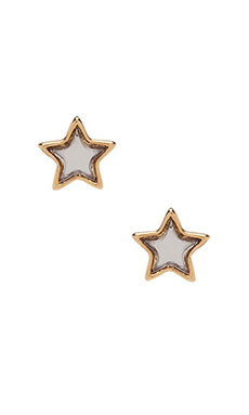 Marc by Marc Jacobs All Stars Star Studs in Silver Mirro
