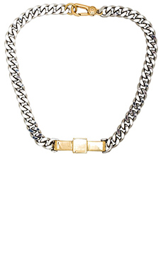 Marc by Marc Jacobs All Tied Up Bow Tie Necklace in Argento Multi