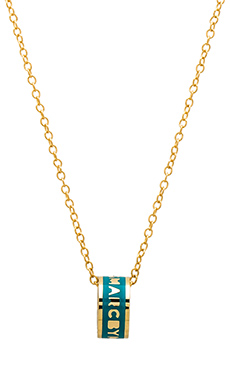 Marc by Marc Jacobs Logo Donut Pendant Necklace in Wintergreen