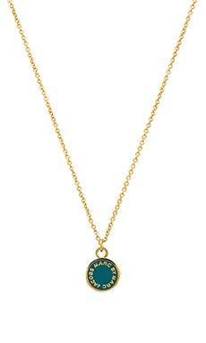 Marc by Marc Jacobs Classic Marc Enamel Disc Pendant Necklace in Wintergreen