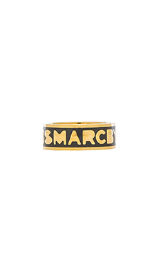 Marc by Marc Jacobs Classic Marc Logo Band Ring in Gunmetal