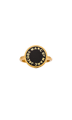 Marc by Marc Jacobs New Classic Marc Starry Double Ring in Black