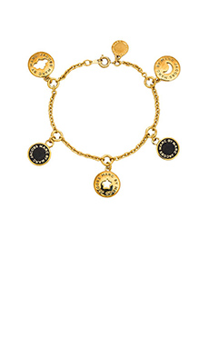 Marc by Marc Jacobs New Classic Marc Cosmic Coins Bracelet in Black