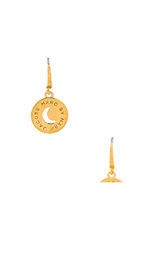 Marc by Marc Jacobs New Classic Marc Lunar Coin Earrings in Oro