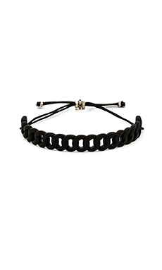 Marc by Marc Jacobs Rubberized Linked Friendship Bracelet in Black