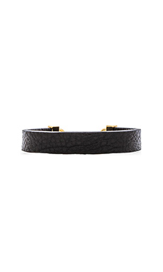 Marc by Marc Jacobs Leather Bracelet in Black