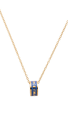 Marc by Marc Jacobs Logo Donut Pendant Necklace in Conch Blue