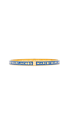 Marc by Marc Jacobs Skinny Logo Bracelet in Conch Blue
