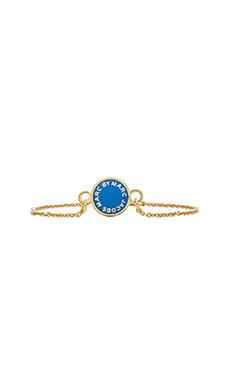 Marc by Marc Jacobs Enamel Disc Bracelet in Conch Blue